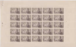 FRANCE, Feuille Complète N° 544 Yvert Neuf **, Jean De Vienne, Amiral De France, Bateau, Marine,  1942 - Fogli Completi