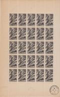 FRANCE, Feuille Complète N° 584 Yvert Neuf **, Au Profit Du Secours National, 1943, + Cachet à Date De Clichy La Garenne - Fogli Completi