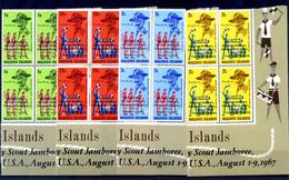 1968 MALDIVE SET MNH ** Quartine SCOUT Scoutismo - Malediven (1965-...)