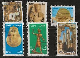 Egypte 2002 N° Y&T :  1727,1728,1731,1733,1734 Et 1736 Obl. - Usados