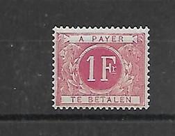 België  Taks  N° Tx 10  Xx Postfris  Cote 73 Euro - Stamps