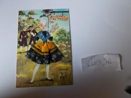 Belle Carte Brodée Tissus Lorraine Qui S'y Frotte S'y Pique Signée Elsi - Borduurwerk