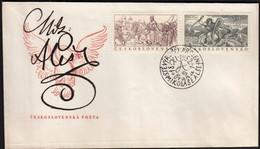Czechoslovakia Prague 1952 / 100th Anniversary Of The Birth Of Mikulas Ales, Matej Louda Z Chlumu, Dragon / FDC - FDC