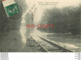 SL 41 BLOIS. Ligne Des Tramways Inondée Pendant La Crue 1907 - Blois