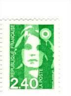 Briat 2fr40 Vert YT 2820b Avec GOMME MATE . Pas Courant , Voir Le Scan . Cote YT : 4 € , Maury N° 2816a : 4 € . - Varietà: 1990-99 Nuovi