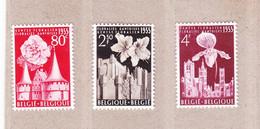 1955 Nr 961-63* Met Scharnier.Gentse Floralien.OBP 5,5 Euro. - Nuevos