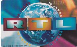 GERMANY(chip) - 10 Jahre RTL(O 632 B), Tirage 1500, 12/93, Mint - O-Series: Kundenserie Vom Sammlerservice Ausgeschlossen