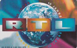 GERMANY(chip) - 10 Jahre RTL(O 632 A), Tirage 1500, 12/93, Mint - O-Series: Kundenserie Vom Sammlerservice Ausgeschlossen