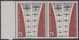 !a! BERLIN 1959 Mi. 188 MNH Horiz.PAIR W/ Left Margin -Ending Of Berlin Airlift - Neufs