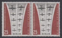 !a! BERLIN 1959 Mi. 188 MNH Horiz.PAIR -Ending Of Berlin Airlift - Neufs