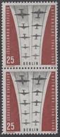 !a! BERLIN 1959 Mi. 188 MNH Vert.PAIR -Ending Of Berlin Airlift - Neufs