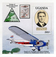 Ouganda Uganda 1994 Henry Ford A5T Trimotor Tin Goose Island Airlines  ( YT , Mi  B 196, Gibbons MS ) - Vliegtuigen
