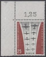 !a! BERLIN 1959 Mi. 188 MNH SINGLE From Upper Left Corner -Ending Of Berlin Airlift - Neufs