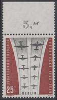 !a! BERLIN 1959 Mi. 188 MNH SINGLE W/ Top Margin (c) -Ending Of Berlin Airlift - Neufs