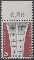 !a! BERLIN 1959 Mi. 188 MNH SINGLE W/ Top Margin (d) -Ending Of Berlin Airlift - Neufs