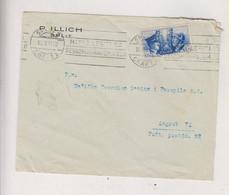 CROATIA WW II, ITALY 1941 SPLIT SPALATO Cover To Zagreb - Croatia