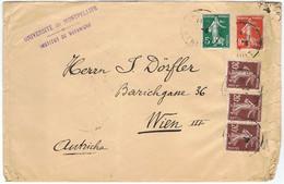 137, 138 Et 139 (3 Ex.) Sur Lettre De L'Université De Montpellier Vers VIENNE (Autriche) - 1877-1920: Semi Modern Period