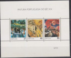 PORTUGAL  Block 61, Postfrisch **,  Gemälde Des 20. Jahrhunderts, 1988 - Blocks & Sheetlets