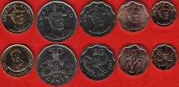 Swaziland Set Of 5 Coins: 5 Cents - 1 Lilangeni 2011 UNC - Swaziland