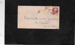 LSC 1943 - Oblitération Linéaire AIX En OTHE AUBE Sur Timbre Pétain - 1921-1960: Moderne
