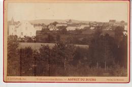 Nièvre SAINT HONORE LES BAINS Aspect Du Bourg Ancienne Photo Collée Sur Carton A. Lachambre Photographe Decize - Luoghi