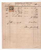 1885 AUSTRIA, HUNGARY, SERBIA, SOMBOR, 1 KR. AUSTRIA REVENUE STAMP, INVOICE FOR ST. TEODOSIJE CHURCH - Austria
