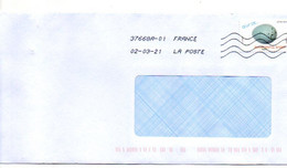 2021--tp Adhésif   Oeuf De....Grive Musicienne.... Seul Sur Lettre.........à Saisir - 1961-....
