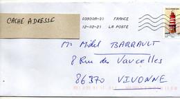 2021--tp Adhésif   Phare Du Grand Léjon... Seul Sur Lettre.........à Saisir - 1961-....