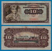 Jugoslawien - Yugoslavia 10 Dinara Banknote 1965 F (4) Pick 78  (18307 - Yugoslavia