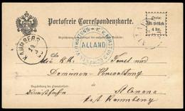 1890, Österreich, Brief - Mechanische Stempel