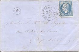 INDRE ET LOIRE (36) ENV De L'ISLE BOUCHARD GC 1832 Sur NAP Pour LE CHATEAU DES   ORMES  (VIENNE) + OR - 1849-1876: Classic Period