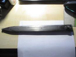 Metall Scheide Waffenfabrik Mauser Ag Oberndorf 38cm - Messen