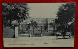 CPA 1905  La Louvière - Ecole Moyenne Des Filles - Attelage - La Louvière