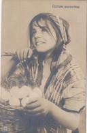 NAPOLI-COSTUMI NAPOLETANI-CONTADINA-CARTOLINA VERA FOTOGRAFIA NON VIAGGIATA ANNO 1900-1904-NPG - Napoli (Naples)