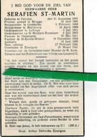 Serafien St-martin Priester Oostkerke-marialoop- Oeselgem-leffinge... O Pervijse 1860 + Emelgem 1941 - Images Religieuses