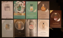 Parfum Billet Lot Of 9 Different With Patch - Modern (from 1961)