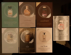 Parfum Billet Lot Of 7 Different With Patch - Modern (from 1961)