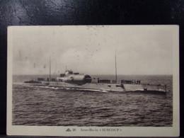 661 . MILITARIA . SOUS MARIN . SURCOUF  . NAVIRE DE GUERRE . 1941 - Warships