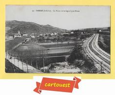 CPA SARRAS  *** 07 *** La Plaine Et La Ligne Chemin De Fer LYON NIMES  *** - Ohne Zuordnung
