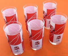 "Suite De 6 Verres Coca Cola   "" Collector ""  France 98 Coupe Du Monde  Football - Glasses"