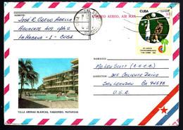 DE CUBA - SUR LETTRE - VOLLEY-BALL - PAR VOIE AÉRIENNE - - Volleyball