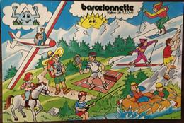 Cpm Barcelonnette Vallée De L'Ubaye Illustration Actlvités A Montagne Tonique, éd Par Office De Tourisme (éd Publibul) - Barcelonnetta