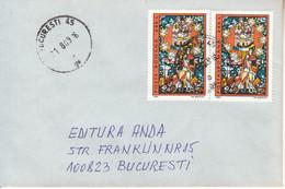 ROMANIA: Cover Circulated As Domestic Letter - Usado