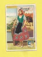 Carte Postale Brodée  Du Folklore  Espagnole   Carte Neuve 1961 - Andere