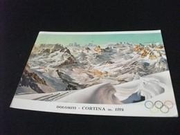 CARTA GEOGRAFICA MAP GEOGRAPHISCHE KARTE CARTE GÉOGRAPHIQUE DOLOMITI CORTINA  OLIMPICA - Carte Geografiche