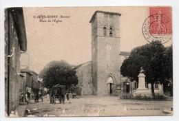 - CPA GRAND-SERRE (26) - Place De L'Eglise 1907 - Photo Charvat - - Altri Comuni