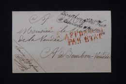 FRANCE - Griffe De La Direction Générale Des Ponts Et Chaussées ( Service Des Phares ) Sur Lettre Pour Bourbon - L 91054 - 1801-1848: Precursori XIX