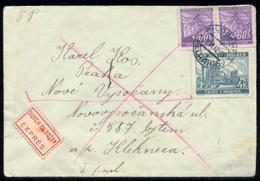 15826 Böhmen Und Mähren Expess Brief Pilgrams - Prag 1942 , Bedarfserhaltung. - Occupation 1938-45