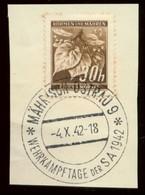 Böhmen Und Mähren Briefstück SoStpl. Wehrkampftage Der SA Mährisch Ostrau 1942 - Occupation 1938-45