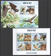 ML603 2013 MALDIVES FAUNA & FLORA OF THE MALDIVES BIRDS OF PREY KB+BL MNH - Arends & Roofvogels